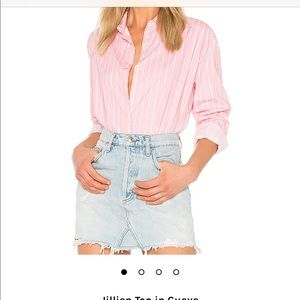 NWT Lovers + Friends Pink Button up